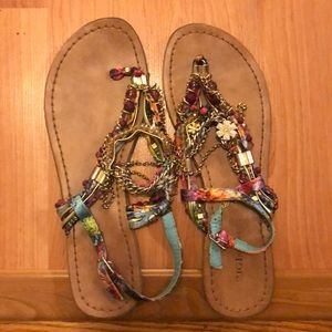 Beaded Sandals size 8.5